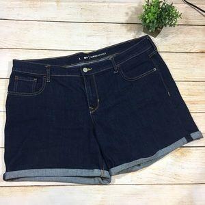 Old Navy Curvy Dark Wash Cuffed Denim Shorts